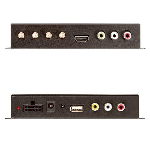 Автомобильный цифровой тюнер DVB-T2 с 4 антеннами Превью 2