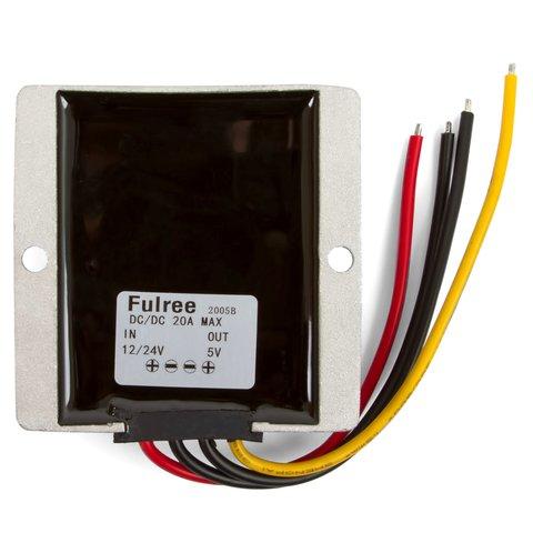 Inversor (convertidor) de voltaje de 12-24 V a 5 V (20 A)  para coche Vista previa  1