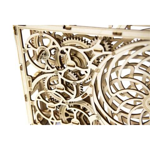 Wooden Mechanical 3D Puzzle Wooden.City Kinetic Picture